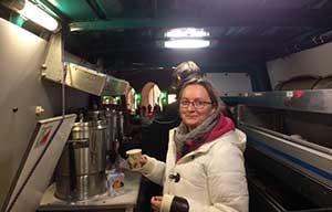 Streetworkerin Katarzyna Cygan im Hamburger Mitternachtsbus