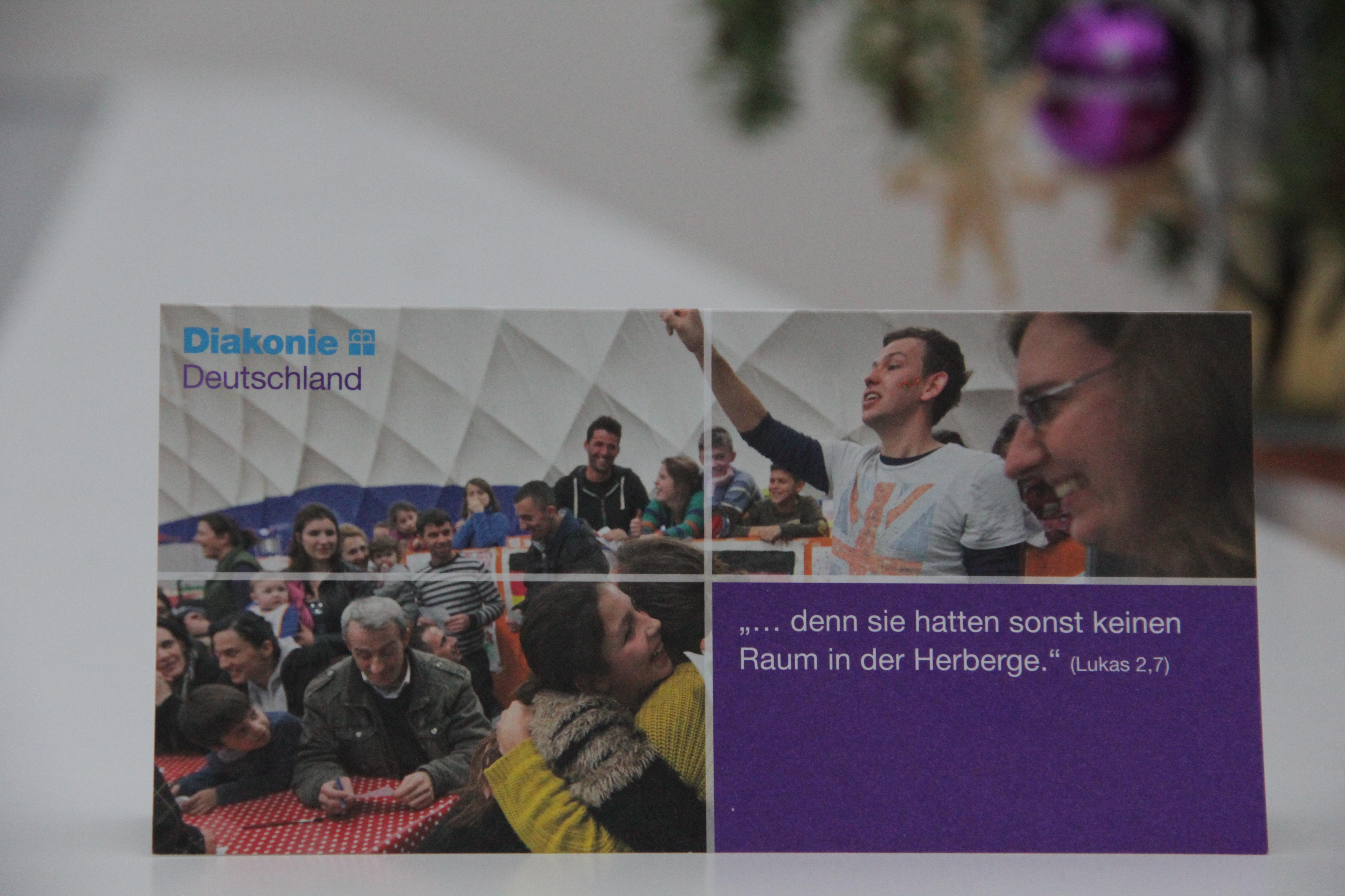 Die Weihnachtskarte, die wir im Namen der Diakonie Deutschland dieses Jahr verschicken.