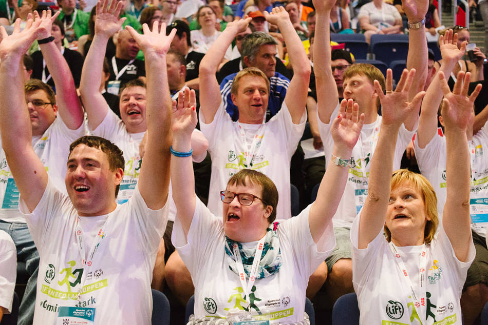 Die große Eröffnungsfeier der Special Olympics (Foto: SOD/ Jörg Brüggemann OSTKREUZ)