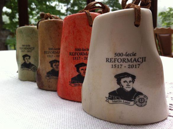 Schlüsselanhänger mit dem Motiv von Martin Luther zur Reformation