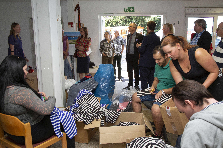 Die Kleiderkammer der Flüchtlingshilfe der Luthergemeinde Hamburg-Bahrenfeld
