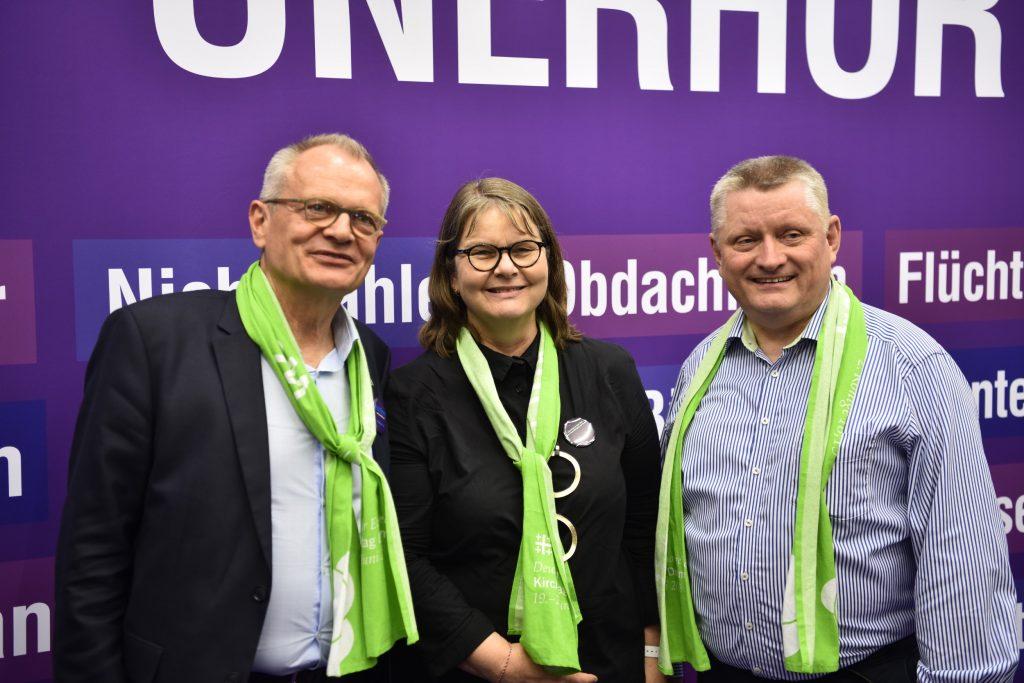Ulrich Lilie, Maria Loheide und Hermann Gröhe