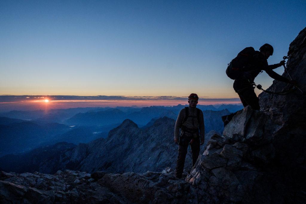 Bergsteiger im Hochgebirge